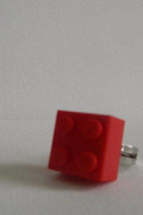 Red Square Lego Ring
