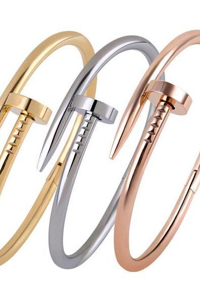 2015 Popular Rose Gold Nail Bangle-Special Curved Nail Girls' Party Accessories Bracelet