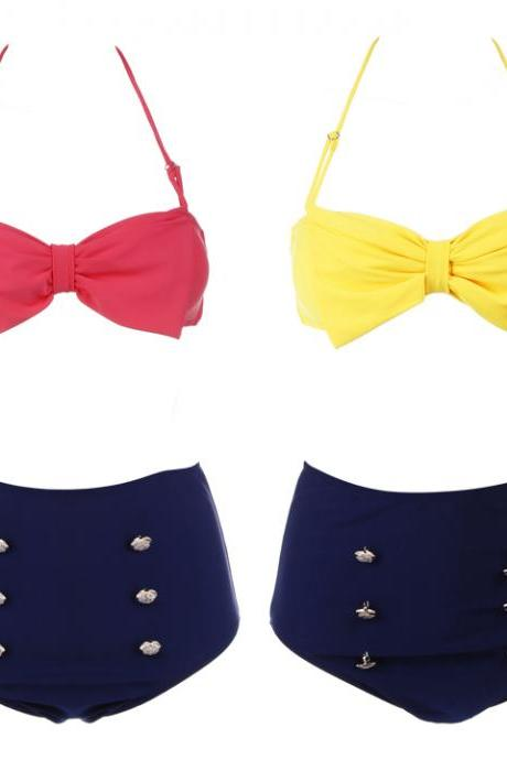 High Waisted Bow Bikini