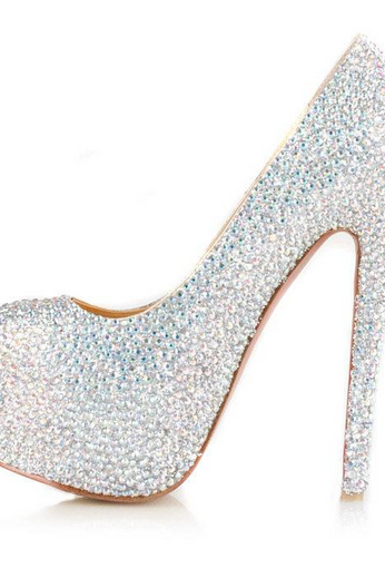 Gorgeous High Heel Rhinestone Fashion High Heels Women Shoes