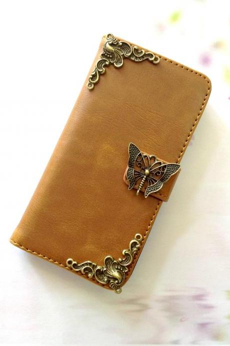 Butterfly iphone 6 6s 4.7 leather wallet case, Vintage iphone 6 6s plus leather wallet case, iphone SE, 5c, 5, 5s leather wallet case, samsung galaxy S4, S5, S6, S6 Edge, S7, S7 Edge, Note 3, Note 4, Note 4 Edge, Note 5, leather wallet case, item no.180