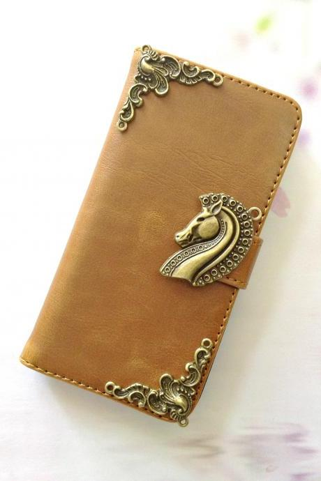 Horse iphone 6 4.7 leather wallet case, Vintage iphone 6 plus leather wallet case, iphone 5c, 5, 5s leather wallet case, samsung galaxy S3, S4, S5, S6, S6 Edge, Note 3, Note 4, Note 4 Edge leather wallet case, item no.156