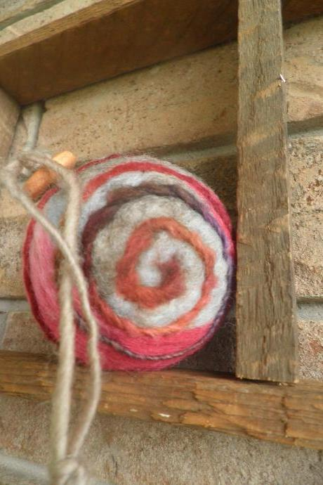 Felted Wool Ball ornament. Lavender filled. Natural Air Freshener. Art Wool Ball. OOAK. Natural, unique, eco friendly.