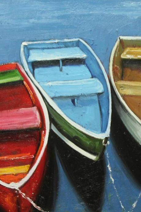 Boats 31 20x24' rowboats original oil painting by Roz