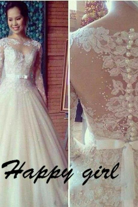 Lace Wedding Dresses, Long Sleeve Wedding Dresses, Vintage Wedding Dresses, Dresses For Bride, Elegant Wedding Dresses, A-Line Wedding Dresses
