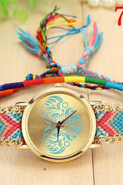 Party fashion Cloth Band hippie Girl Watch