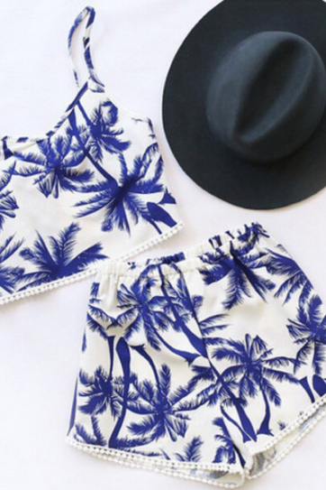 Palm tree two-piece set