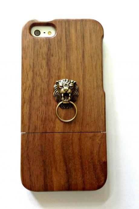Lion iphone 6 6s 4.7 wood case, Vintage iphone 6 6s plus wood case, iphone SE, 5c, 5, 5s wood case, samsung galaxy S4, S5, S6, S6 Edge, S7, S7 Edge, Note 3, Note 4, Note 5, real wood case, item no.269