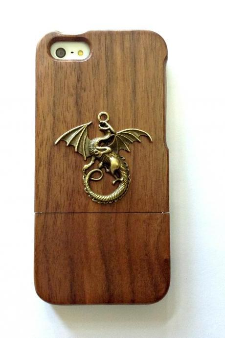 Dragon iphone 6 6s 4.7 wood case, Vintage iphone 6 6s plus wood case, iphone SE, 5c, 5, 5s wood case, samsung galaxy S4, S5, S6, S6 Edge, S7, S7 Edge, Note 3, Note 4, Note 5, real wood case, item no.205