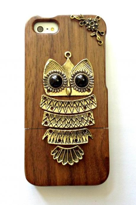 Owl iphone 6 6s 4.7 wood case, Vintage iphone 6 6s plus wood case, iphone SE, iphone 5c, 5, 5s wood case, samsung galaxy S4, S5, S6, S6 Edge, S7, S7 Edge, Note 3, Note 4, Note 5, real wood case, item no.13