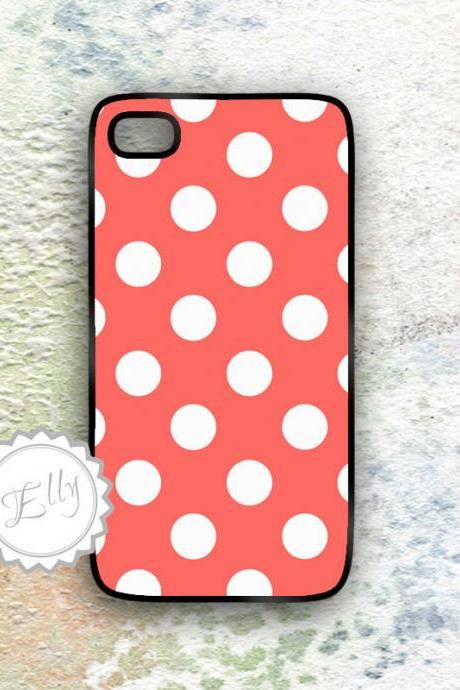iPhone case polka dots cute pattern Iphone4 hard covers on custom color background