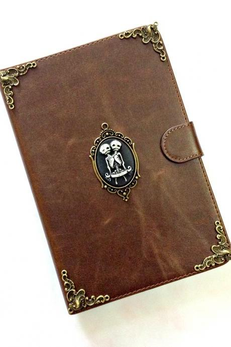 Twin skull leather iPad case, Leather iPad mini 1, 2, 3 case, Leather iPad air case, Leather iPad air 2 case, iPad stand case, iPad Smart cover case, item no.248