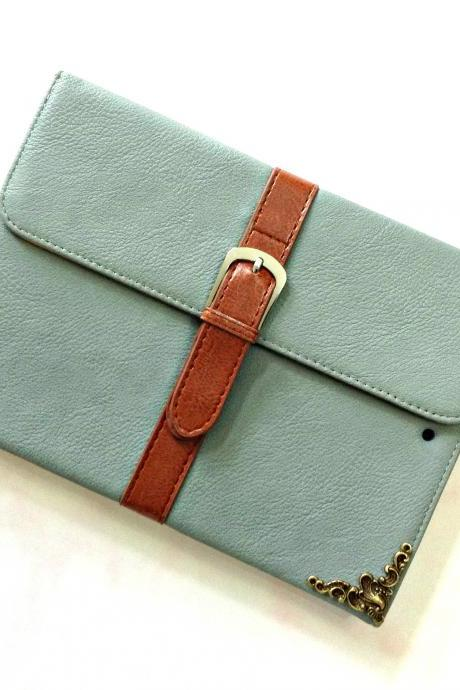 Envelope leather iPad case, Leather iPad mini 1, 2, 3 case, Leather iPad air case, Leather iPad air 2 case, iPad stand case, iPad Smart cover case, item no.178