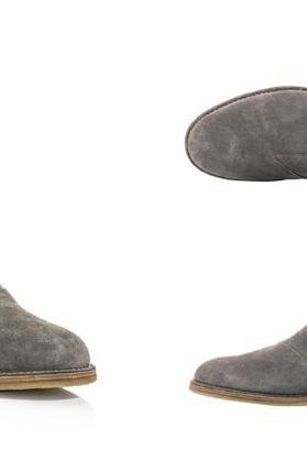 Handmade mens gray Chelsea suede leather boots, Men suede leather Chelsea boots