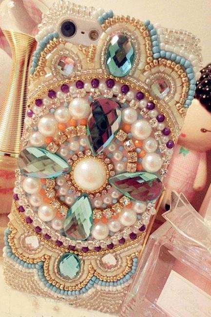 2015 HOT ! Handmade Pearl Bohemia Crystal Rhinestone girly case for iphone 6s case,iphone 6s plus case,iphone 6c case,iphone 5case,iphone5scase,iphone7 case,iphone7 plus case,iphone 6plus case,samsung galaxy s4 case,samsung galaxy s5case,samsung galaxy s6 case,samsung galaxy s6 edge case,samsung galaxy note10 case,samsung galaxy note8.0 case,samsung galaxy note5 case.