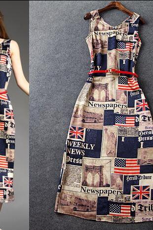 The American Flag Printed Dress Dress