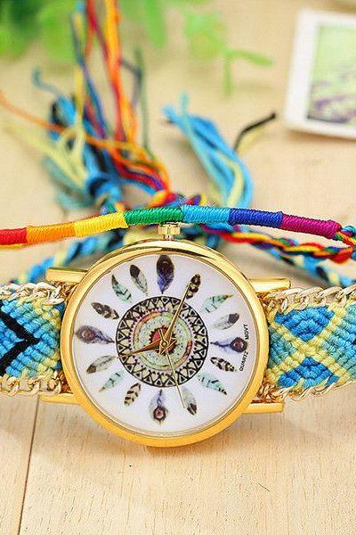 Cloth Chain Band festival Party Girl Watch