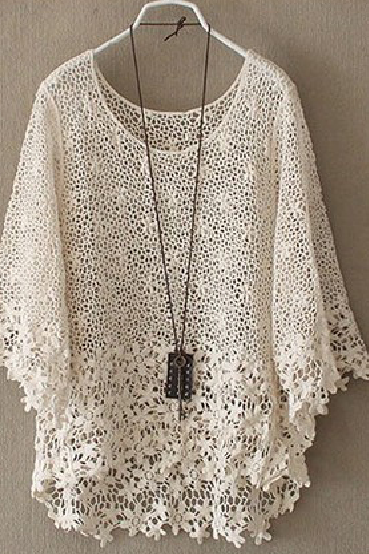 HOLLOW OUT LACE SMOCK