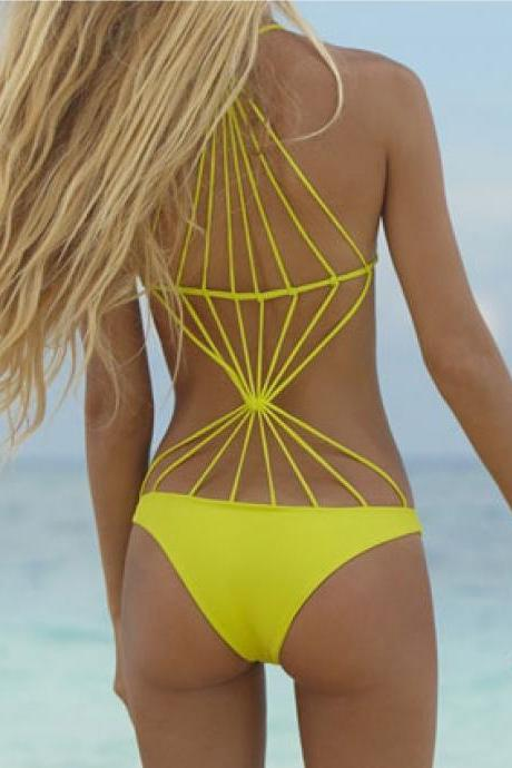 Fashion sexy pure color swimsuit 358FSB