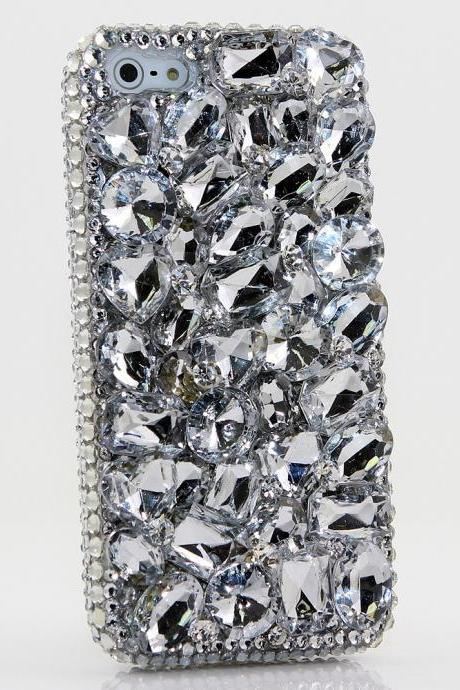 Bling Crystals Phone Case for iPhone 6 / 6s, iPhone 6 / 6s PLUS, iPhone 4, 5, 5S, 5C, Samsung Note 2, Note 3, Note 4, Galaxy S3, S4, S5, S6, S6 Edge, HTC ONE M9 (DIAMOND STONES DESIGN) By LuxAddiction
