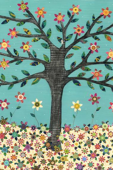 Art Print - Retro Flower Tree