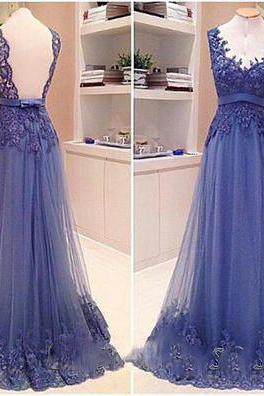 Deep V Neck Evening Dress, Purple Prom Dresses, Tulle Appliques Evening Gowns, Beading Prom Dresses, Custom Make Party Dresses, New Formal Dresses