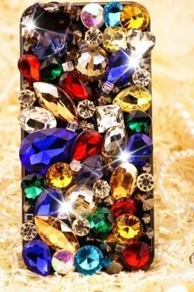 6c 6s plus Hot muticolored rhinestones Hard Back Mobile phone Case Cover bling diamond Case Cover for iPhone 4 4s 5 7plus 5s 6 6 plus Samsung galaxy s7 s4 s5 s6 note8.0 4