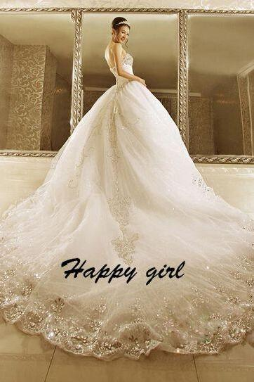 Wedding Dresses 2015, Sweetheart Wedding Dresses, Ball Gown Wedding Dresses, Floor-Length Wedding Dresses, Sleeveless Wedding Dresses, Modern Wedding Dresses, White Wedding Dresses, Custom Wedding Dresses