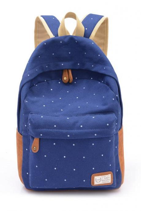 Women's Canvas Travel Backpack School Rucksack