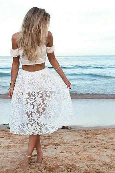 Two-Piece White Skirt