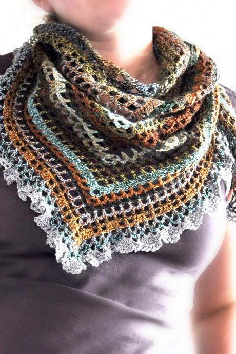 Triangular Crochet Shawl - Made To Order