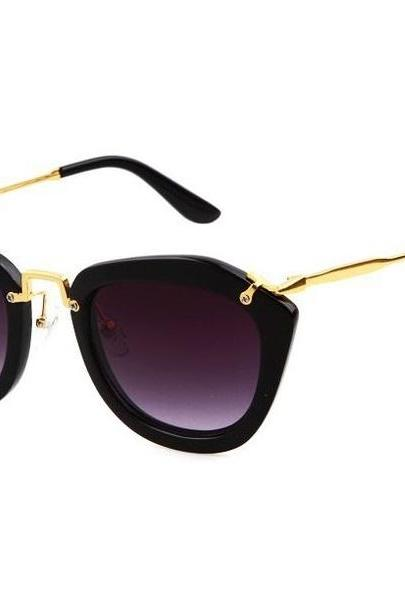 Cat Eye Sunglasses -Black