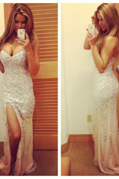 Sexy Prom Dress ,Long Prom Dress, Formal Dresses, Dresses for Prom, Prom Dresses 2015,Party Dresses,Crystal Evening Dresses