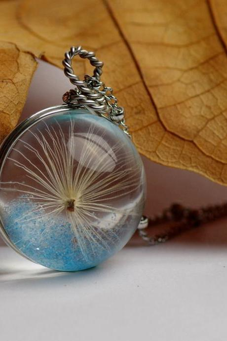 Stylish Crystal Glass Necklace Dandelion Pendant with Gift Package, Creative Gift for Girlfriend & BFF