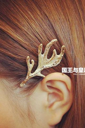 Sweet Japanese Style Hair Clip Elk Antlers Metal Antlers Hairpin Elf Girl Hair Jewelry Side Clip