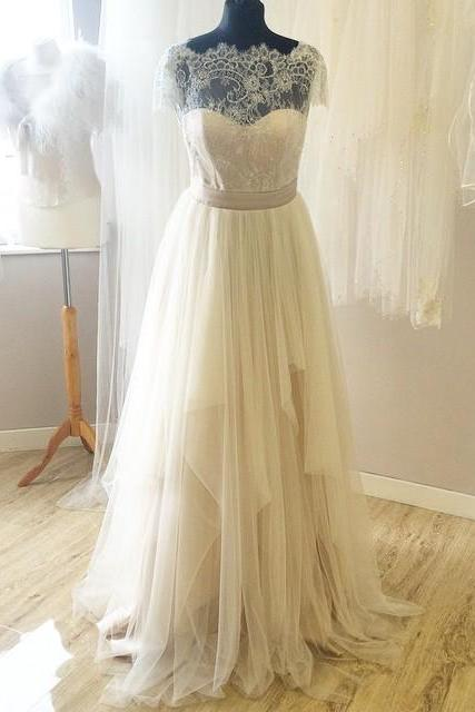 New Arrival Real Made Lace Wedding Dresses,Sexy Tulle Wedding Dresses,The Charming A-Line Wedding Dress,Wedding Dresses, Dresses For Wedding