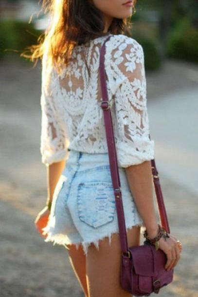 CUTE LACE BLOUSE FOR GIRLS