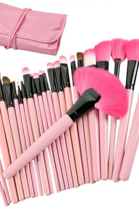 2015 fashion Professional 24Pcs Cosmetic Makeup Brush Set Make-Up Toiletry Kit