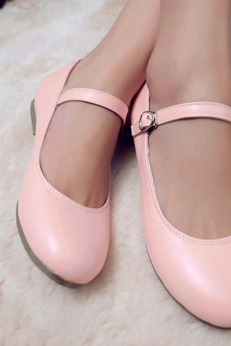 2015 Sweet Women Round Toe Mary Janes Lolita Flat Girls Causal Shoes