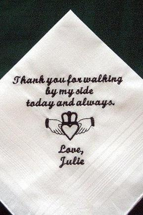 Personalized Wedding Handkerchiefs for Father of the Bride with Gift Box 124S