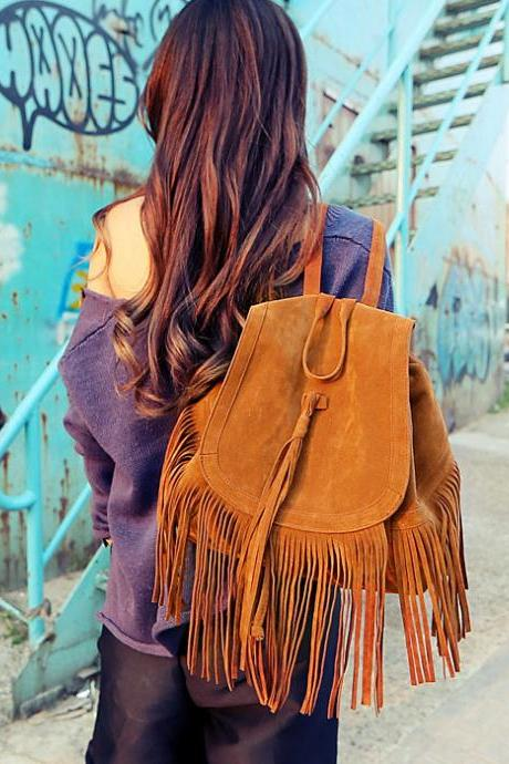 Fashion Celebrity Tassel Backpack