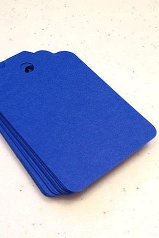 25 Blueberry Blue Tags 2.75 inches