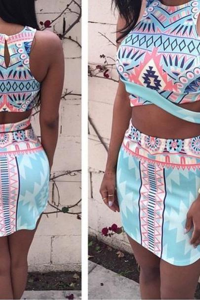 CUTE COLORFUL TWO PIECE ROMPER JUMPSUIT