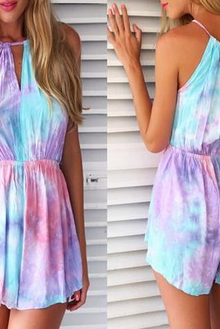 SEXY BEAUTIFUL PRINTING JUMPSUITS REEW