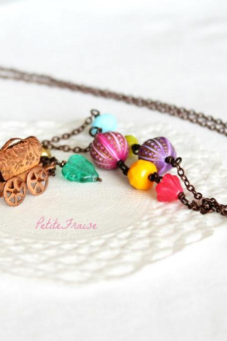 Living a gypsy life, boho hippie necklace, bohemian vintage style jewelry