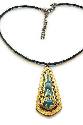 Southwestern American Indian Style Bird Necklace, Western Necklace, Indian Jewelry, Tribal Jewelry, #80142-1, ON SALE