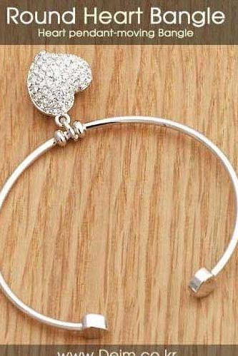 New Fashion Women Heart Shape Diamond Bracelet