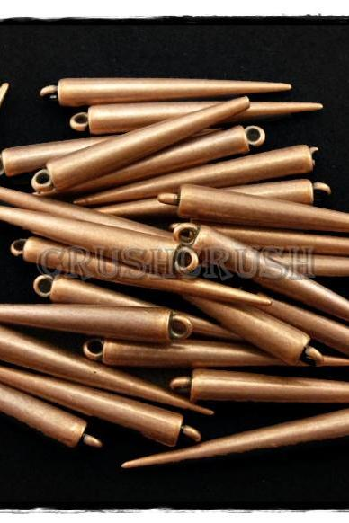 25pcs 2' (52mm) Copper Basketball Wives Spikes Charms Pendants Beads X50