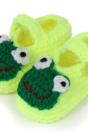 Hand-woven Soft bottom Frog baby shoes infant shoes toddler shoes Photography Props shoes