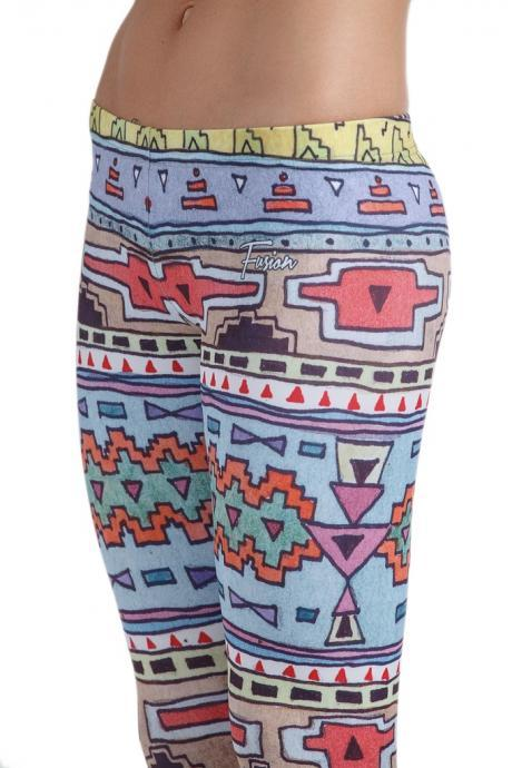 Fusion Printed Leggings 'Funky Tribal'